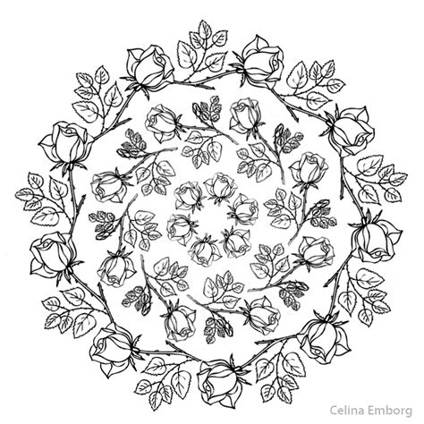 imagenes de mandalas rosas mandalas con flores celina emborg
