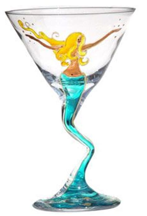 martini mermaid mermaid martini glass
