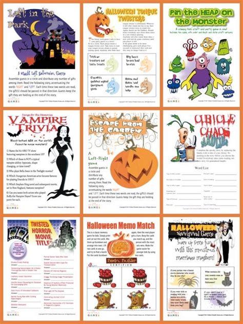 halloween charades free printable halloween game the halloween printable games party games partyideapros com