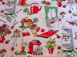 fifties kitchen in creme michael miller fabrics by