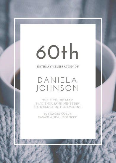 Resumes Online by Customize 926 60th Birthday Invitation Templates Online