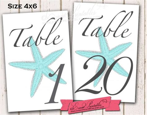 Free Printable Table Numbers 1 20