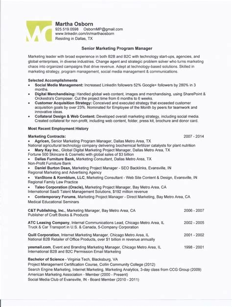 Resume Over One Page Best Resume Collection One Page Project Manager Template