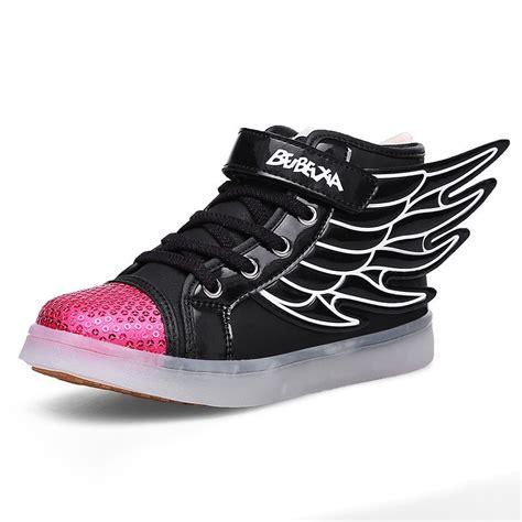 light up high tops boys led light up shoes wing loafer