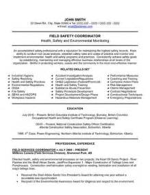 Health And Safety Coordinator Sle Resume 15 best images about human resources hr resume templates sles on professional