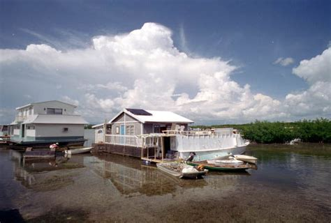 houseboats key west florida memory clouds rolling in over houseboat row