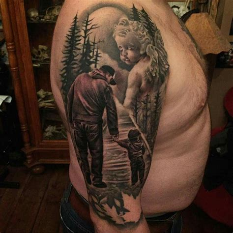 dad angel tattoo designs jason stieva sinful inflictions realistic nature