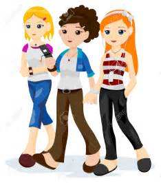 images teenage girl:  teenage friends with clipping path stock vector girl teenage clipart