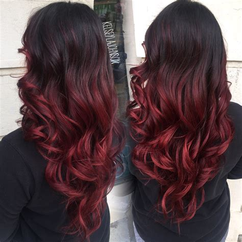red ombre hair dark brown to red ombre the beauty industry pinterest