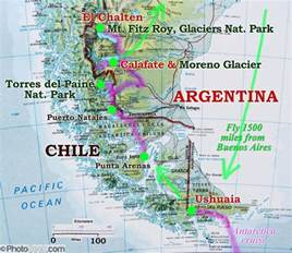 map of south america patagonia patagonia map ushuaia argentina natales chile