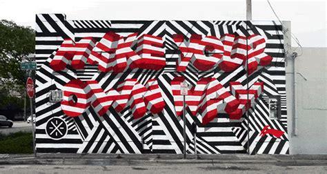 african pattern gif insa layers street art paintings into animated graffiti gifs