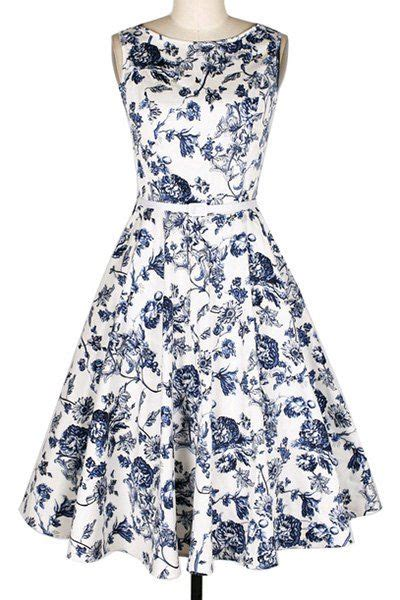 Dress Vintage Motif Print Burung 25 best ideas about flare dress on fit and