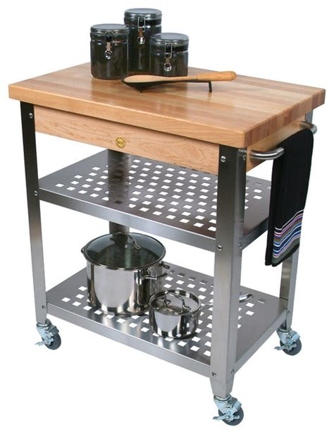 boos maple cucina rosato butcher block steel cart