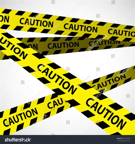 Is A Caution A Criminal Record Caution Design On White Background Caution Stripes Stock Vector Illustration