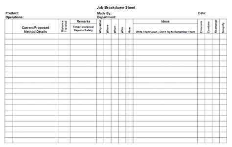 breakdown sheet template downloads the bilas llc