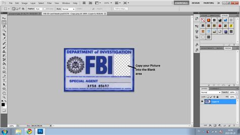 fbi id template fbi id card pictures