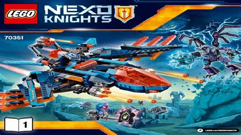 Lego Nexo Knights 70351 Clays Falcon Fighter Blaster lego nexo knights 2017 clay s falcon fighter blaster 70351 1