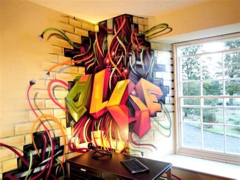 graffiti wallpaper bedroom children teen kids bedroom graffiti mural hand