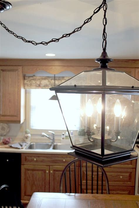 farmhouse lighting in the kitchen the creek line house
