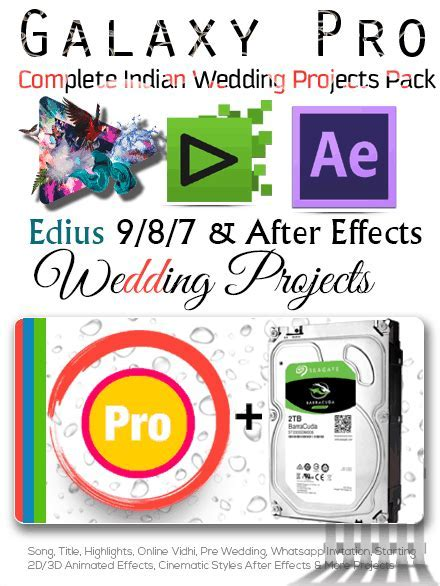 EDIUS 9 Projects   After Effects Projects Dongle (Galaxy