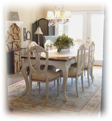 Painted Dining Room Set | notes from a cottage industry a bit of charm in the