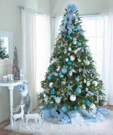 tree decoration blue and silver designcorner