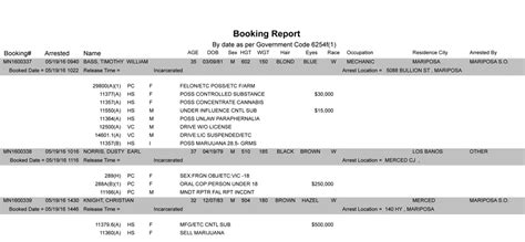 county booking report county daily booking report 28 images mariposa county
