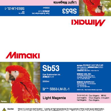 Tinta Printer L Series Light Magenta Lm i sb53 lm 2l light magenta sb53 dye sublimation ink 2