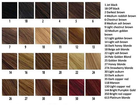hair color chart hair color charts for full lace wigs