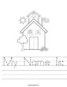My Name Is Worksheet Twisty Noodle Day Of School Coloring Pages For Kindergarten