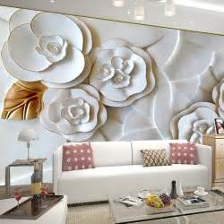 living room sofa tv background wall wallpaper flower mural wallpaper smoke fog photo wallpaper modern wall mural 3d view wallpaper designer