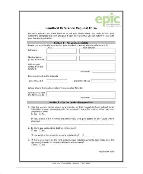 Landlord Reference Letter Request sle landlord recommendation letter 7 exles in word pdf