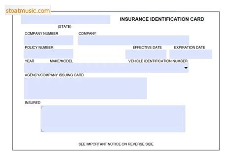 fake insurance card template stoatmusic com