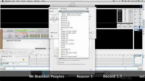 reason tutorial real piano sounds with radical piano reason 5 setting up a keyboard control surface record 1 5