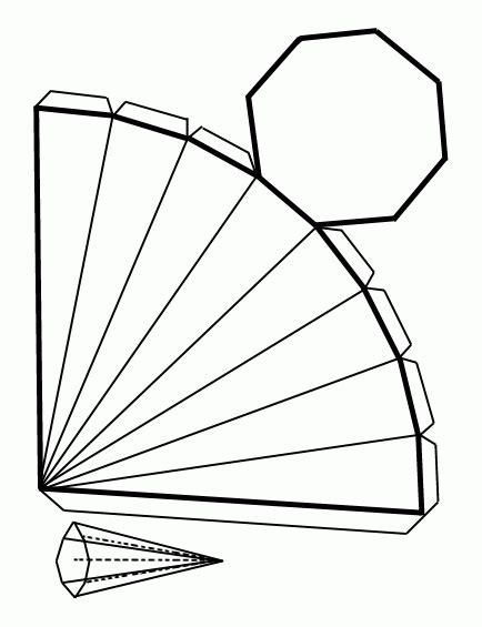 figuras geometricas como hacerlas dibujo recortable piramideoctagonal figuras geom 233 tricas
