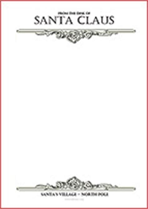Official Pole Letterhead Santa S Official Letterhead Free Printout