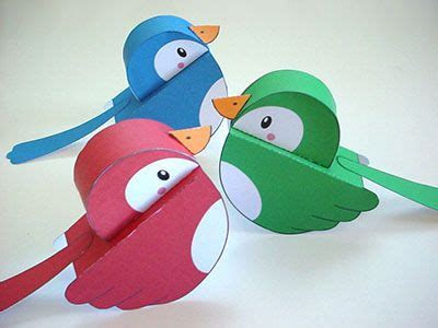 How To Make A Bird Out Of Construction Paper - best 25 paper birds ideas on diy 3d decoupage