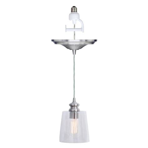 convert pendant light to recessed light worth home products instant pendant series 1 light brushed