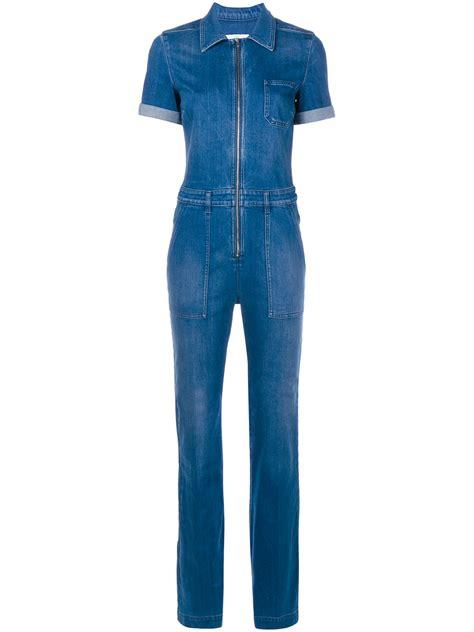 Jumpsuit Denim Lyst Stella Mccartney Denim Jumpsuit In Blue