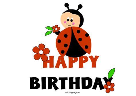 make printable ladybug birthday banner ladybug clipart happy birthday pencil and in color