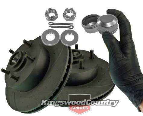 holden hq hj hx hz wb ax front disc brake rotors slotted dimpled nut gloves ebay