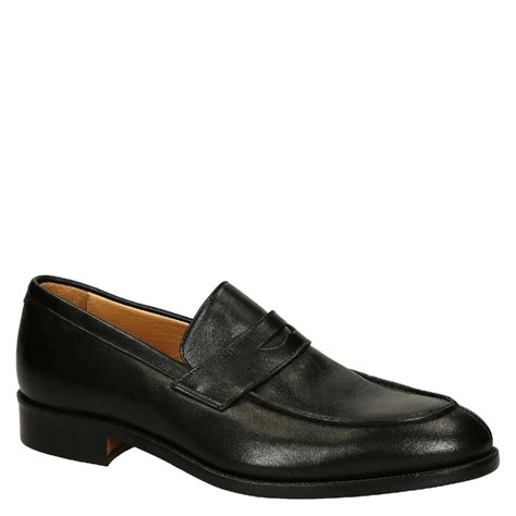 loafers shoes black calf leather s loafers shoes leonardo