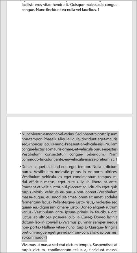 Présenter un texte (lignes et paragraphes) sur une même
