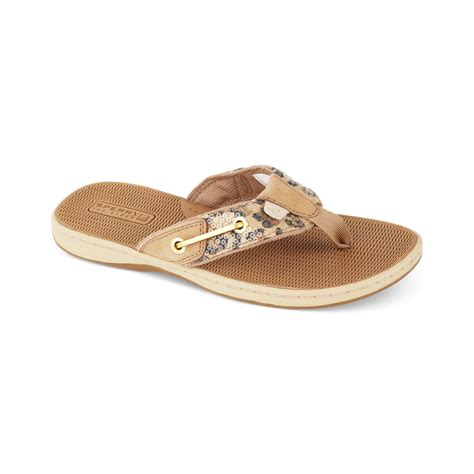 sperry s sandals sperry top sider womens seafish sandals in beige