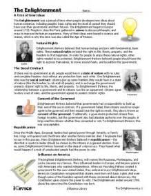 pictures enlightenment worksheet getadating