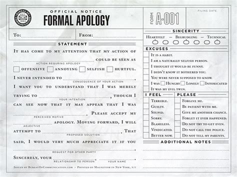 Apology Letter Joke Apology Cool Form Formal Apology Humor Image 40122 On Favim