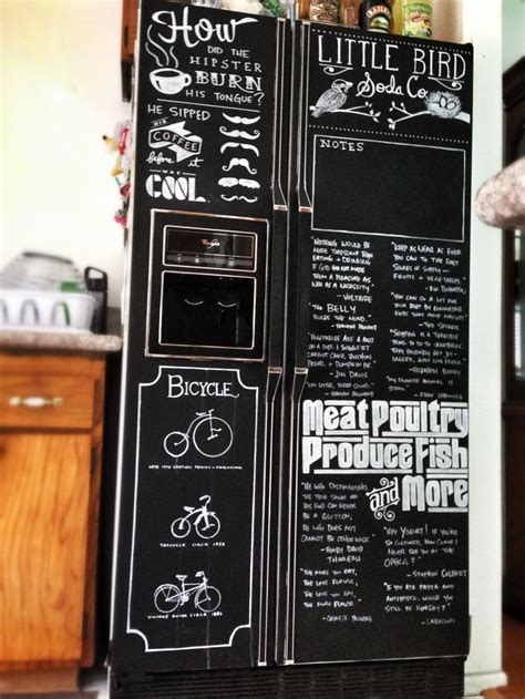 chalkboard painting your fridge 25 best ideas about chalkboard paint refrigerator on