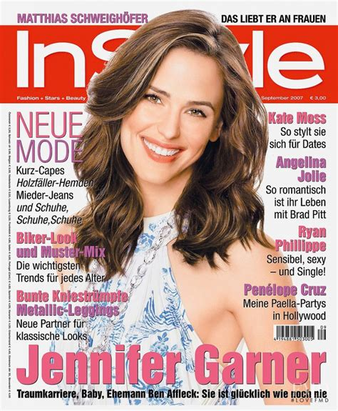 Garner On The Cover Of by Cover Of Instyle Germany With Garner September