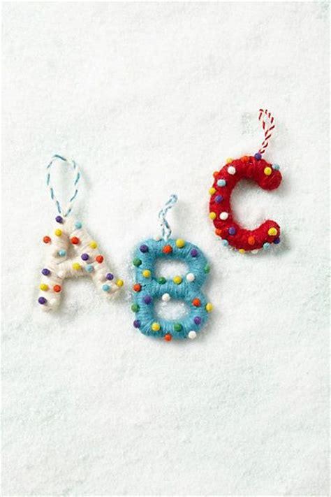 letter ornaments christmas pinterest