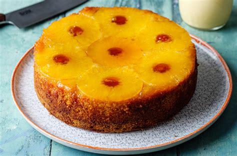 simon rimmer pineapple upside  sponge  custard
